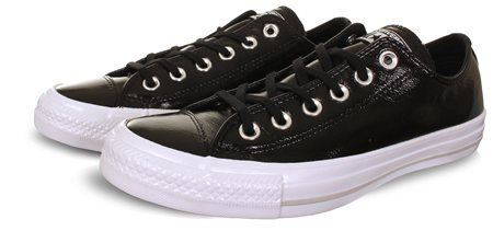 Converse Black Chuck Taylor Crinkled Patent Leather  - Click to view a larger image