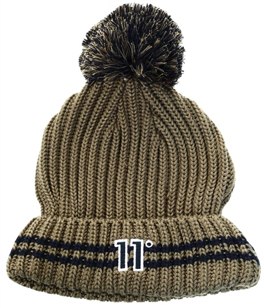 11degrees Khaki Beanie  - Click to view a larger image