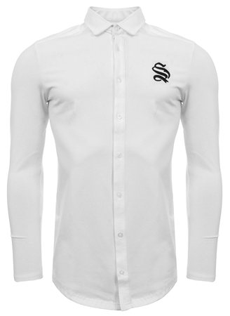 Sinners Attire White Logo Shirt  - Click to view a larger image