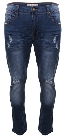 Crosshatch Denim Torn Skinny Jean  - Click to view a larger image