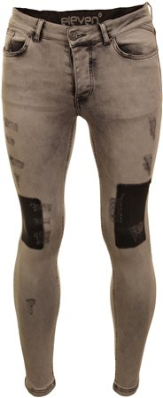 11degrees Charcoal Distressed Jean  - Click to view a larger image