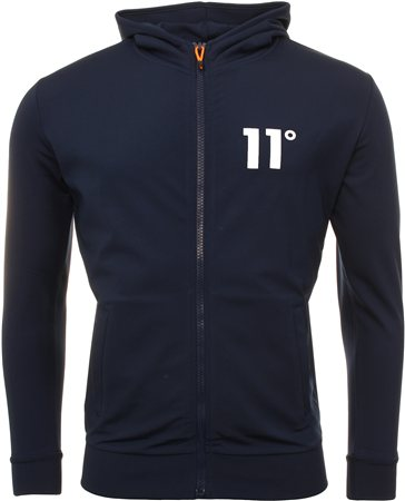 11degrees Navy Poly Hoodie  - Click to view a larger image