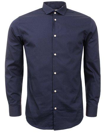 Jack & Jones Navy Jose Slim Shirt  - Click to view a larger image
