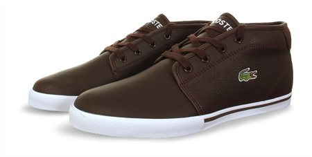 473226bf57d256 Lacoste Brown Amphill Trainer - Click to view a larger image