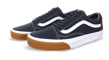 Vans Navy Old Skool Gun Trainer  - Click to view a larger image