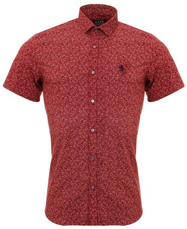 Alex & Turner Burgundy Pattern Shirt  - Click to view a larger image