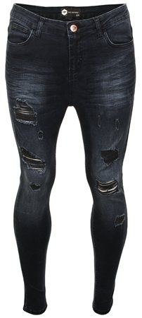 Bee Inspired Dark Blue Denim Luca Skinny Jeans  - Click to view a larger image