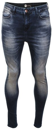 Bee Inspired Blue Denim Luca Vintage Skinny Jeans  - Click to view a larger image