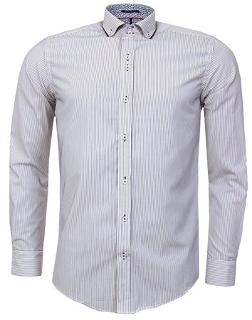 Guide London White Stripe Shirt  - Click to view a larger image