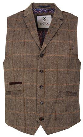 Kaymans Brown Connall Waistcoat  - Click to view a larger image