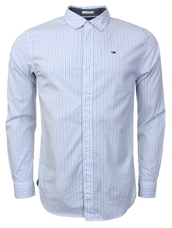 Hilfiger Denim White Stripped Shirt  - Click to view a larger image
