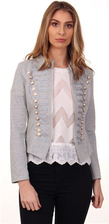 Cutie London Grey Millitary Jacket  - Click to view a larger image