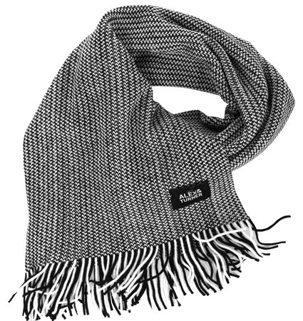 Alex & Turner Black Knitted Scarf  - Click to view a larger image