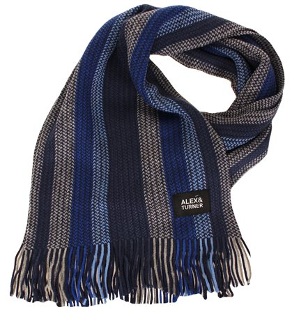Alex & Turner Multi Knitted Scarf  - Click to view a larger image