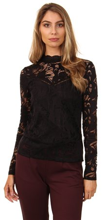 6551e9db56 Vila Black Stasia Lace Top