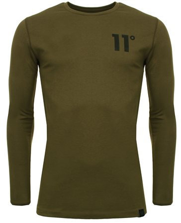 11degrees Khaki Core Long Sleeve Tee  - Click to view a larger image