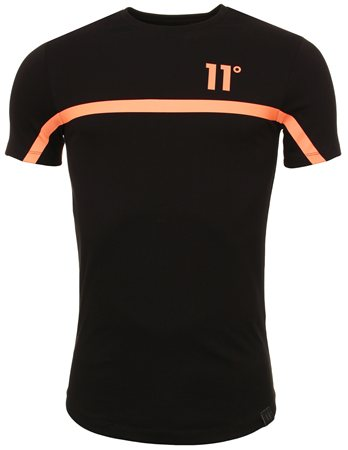 11degrees Black & Orange Reflective Tee  - Click to view a larger image