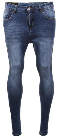 Sinners Attire Dark Wash Spray On Jeans  - Click to view a larger image