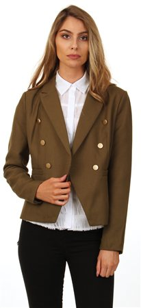 Only Olive Amy Millatry Jacket  - Click to view a larger image