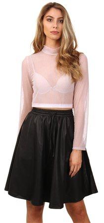 7cb213b7157 Glamorous Sheer Pink Crop Top | | Shop the latest fashion online @ DV8