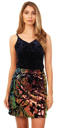 Glamorous Navy Cami Top  - Click to view a larger image
