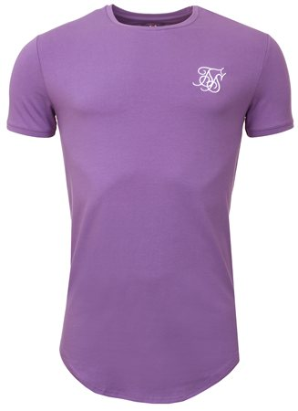 Siksilk Lilac Pastel Short Sleeve Gym Tee  - Click to view a larger image