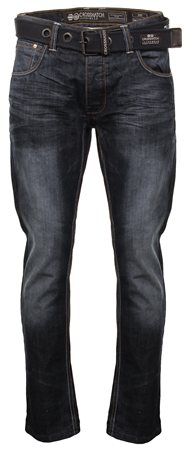 Crosshatch Denim Techno Straight Leg Jean  - Click to view a larger image