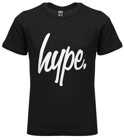 Hype Black Basic Script Tee  - Click to view a larger image