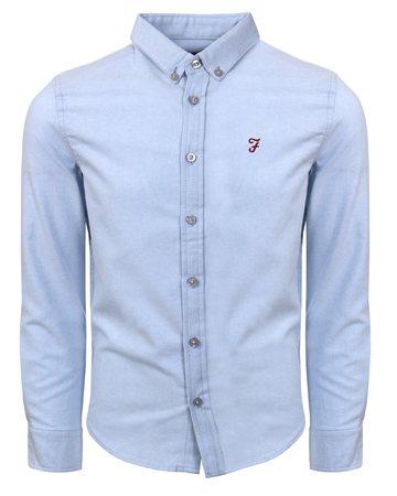 Farah Light Blue Oxford Plain Shirt  - Click to view a larger image