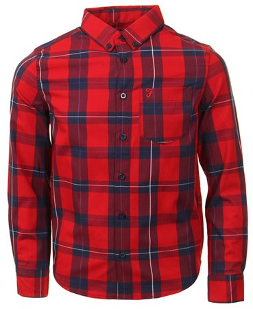 Farah Red Checked Shirt  - Click to view a larger image