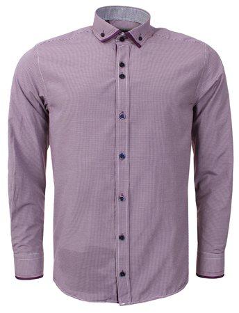 Ottomoda Purple Check Shirt  - Click to view a larger image