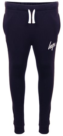 Hype Navy Basic Script Logo Joggers  - Click to view a larger image