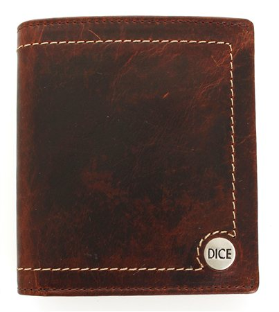Dice Brown Wallet  - Click to view a larger image