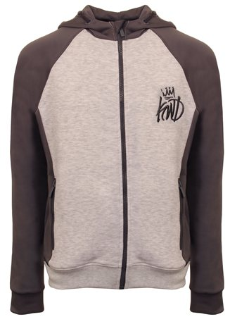 Kings Will Dream Grey Harlem Zip Hoodie  - Click to view a larger image
