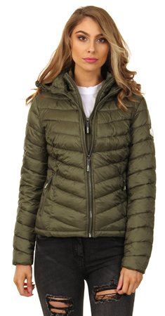 Superdry Khaki Chevron Hooded Fuji Jacket  - Click to view a larger image