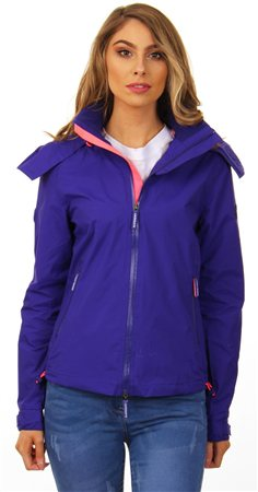Superdry Toucan Blue/Fluro Candy Pink Arctic Hooded Pop Zip Sd-Windercheater  - Click to view a larger image