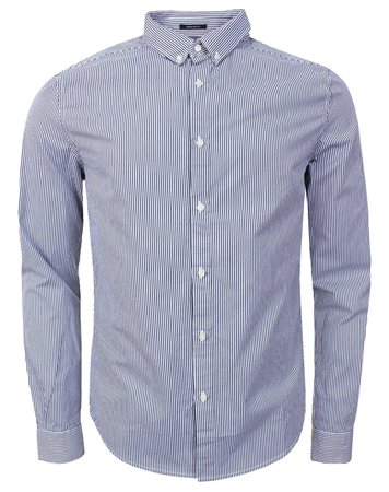 Superdry Navy Stripe Premium City Shirt  - Click to view a larger image