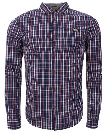 Superdry Navy Washbasket Checked Shirt  - Click to view a larger image