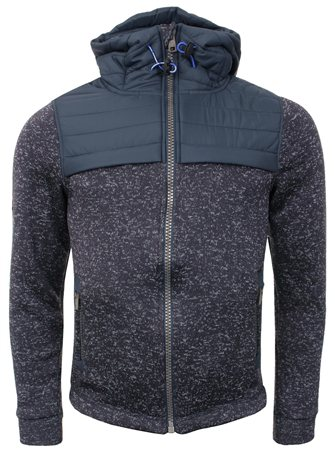 Superdry Navy Storm Hybrid Zip Up Hoodie  - Click to view a larger image