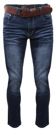 bfb45656 Crosshatch Denim Farrow Straight Leg Jeans - Click to view a larger image