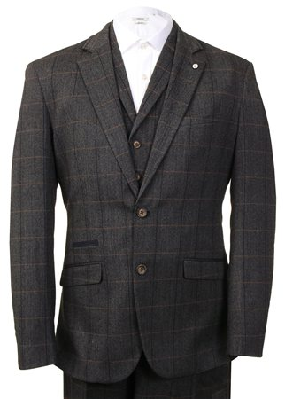 Cavani Grey Carera Three Piece Suit  - Click to view a larger image