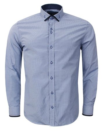 Ottomoda Blue Check Shirt  - Click to view a larger image