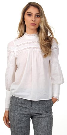 Veromoda Snow White Lace Nessa Top  - Click to view a larger image