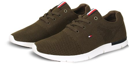 Hilfiger Denim Olive Mesh Trainer  - Click to view a larger image