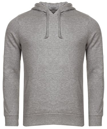 Brave Soul Grey Marl Clarence Hoody  - Click to view a larger image