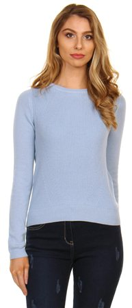 Veromoda Cashmere Blue Airforce Knit  - Click to view a larger image