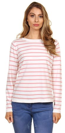 Veromoda Snow White Strike Knit Stripped Sweater  - Click to view a larger image