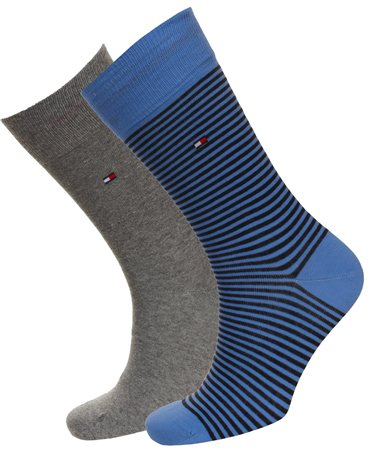 Hilfiger Denim Blue Stripe Sock  - Click to view a larger image