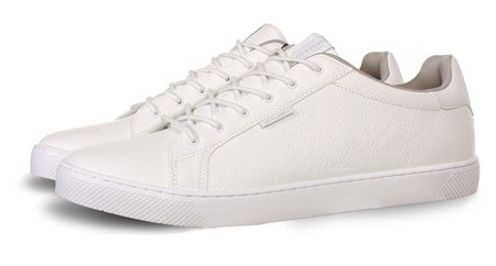 Jack & Jones White Trent Pu Trainer  - Click to view a larger image