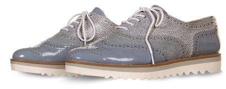 Marco Tozz Blue Denim Brogue  - Click to view a larger image